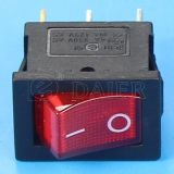 소형 6A 250VAC Lighted Rocker Switch