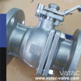 API 6D Floating 2 PCS Split Body C. S/CS Ball Valve