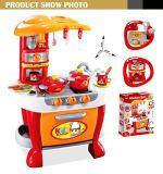 tabela de cozinha portátil ajustada do Cookware da indução do toque do jogo novo da cozinha dos brinquedos 238801A-2016
