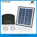 Sistema de iluminação da potência solar de Rechargeble com o carregador do telefone de 2 Bulbs&Mobile para interno