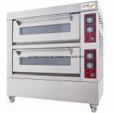 De Elektrische Oven van uitstekende kwaliteit van het Dek van het Roestvrij staal met Stoom 3 de Oven van de Bakkerij van Dekken