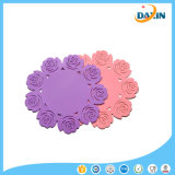 Rose Silicone Table Coffee Cup Mat Isolamento Non-Slip Silicone Potholder