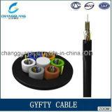 中国の製造業者によって残される緩い管の非金属強さメンバー非装甲光ファイバケーブルGYFTYの光ファイバケーブルの価格