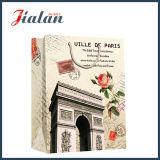 Sac de papier stratifié lustré de rétro d'architecture de papier en ivoire cadeau d'achats