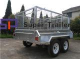 8X5 galvaniseerde volledig Gelaste Hydraulische Tippende Aanhangwagen
