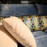 Sofà blu del tessuto del salone (801B#)