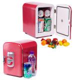 Mini refrigerador eletrônico 4liter DC12V, AC100-240V em refrigerar e no aquecer para o carro, HOME, uso do escritório