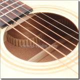 Fingerboard del palo de rosa y guitarra acústica del puente (AF48C)