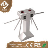 304 cancello automatico del cancello girevole RFID del treppiedi di controllo di accesso di goccia del braccio dell'acciaio inossidabile 3