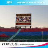 最高はリフレッシュレートP16 RGBフルカラーの屋外の巨大な広告LEDのスクリーンを