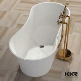 Bañeras libres superficiales sólidas de piedra artificiales modernas del cuarto de baño (61207)
