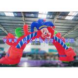 Park-Clown-Karikatur-aufblasbarer Bogen der Kinder/aufblasbare Ziellinie Bogen