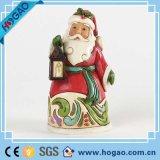 Оптовое крытое новое рождество Santa Claus с Figurine смолаы фонарика