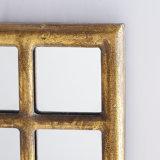 Античное зеркало стены рамки X-Quisite готового металла золота для домашнего украшения