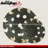 Grober/mittlerer/feiner abschleifender Diamant-reibende Platten-Cup-Steinrad