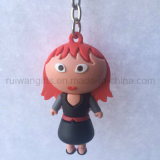 borracha macia Keychain do PVC 3D