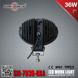7 pouces 36W DEL Car Driving off Road Work Lights, Flood Beam, SUV, haute énergie, 4X4, RoHS, CE (SM-7036-RXA)