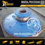 젖은 바위 돌 광석 가공 광업 공 가는 선반 기계
