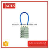 Стальной Retractable малый Padlock замка комбинации кабеля