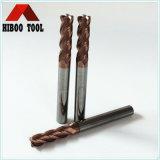 Molino de extremo de alta velocidad del cuadrado del carburo de tungsteno para el acero del molde