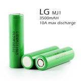 bateria elevada da taxa 10A 18650 da descarga da bateria 3.7V 3500mAh do Li-íon
