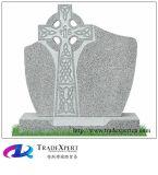 Traversa celtica di stile tradizionale dell'Irlanda che intaglia Headstone, monumento