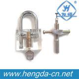 Ferramentas do Locksmith Yh9255 um cadeado transparente da lâmina + picareta do fechamento da lâmina de 1 parte