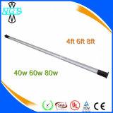 Éclairage imperméable à l'eau du tube LED, lampe fluorescente