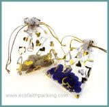 高品質のオーガンザの装飾的なパッケージのドローストリング袋