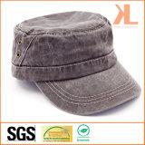 돌에 의하여 세척되는 면 능직물 필드 모자, 작동되는 모자