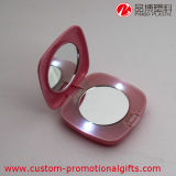 LED Light를 가진 플라스틱 ABS Square Makeup Clamshell Mirror
