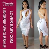 Fashion Seamless Grey Sexy Woman Dresses (L27898-6)