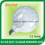 Шарик ясности сатинировки Kroko-Льда G125- 40W 60W 75W 100W раскаленный добела