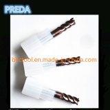 Cortadores de las flautas HRC55 4 con la caña recta en la acción