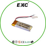 Горячая батарея полимера лития 110mAh батареи 401235 сбываний для GPS