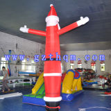 Weihnachtsmann, der Luft-Tänzer bekanntmacht