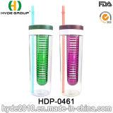 580ml дешевое BPA освобождают пластичную бутылку воды Infuser (HDP-0461)