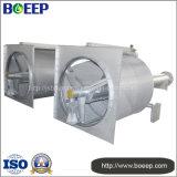廃水処置装置の回転式ドラムスクリーン