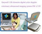 Easywell 128 Veterinaire Ultrasone klank van de Kleur van Elementen de Digitale ew-C15V met Lineaire Sonde voor Evaluatie Animals'abdominal en Musculoskeletal Pees, Gezamenlijk,