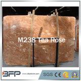 Losas de mármol rojas naturales Polished de Rose de té para el diseño interior