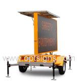 Remorque mobile actionnée solaire ambre de VMs de signe de route de circulation de DEL