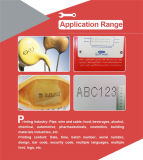 Fecha de Número de Máquina de inyección de tinta de impresión para Botle y la bolsa de plástico
