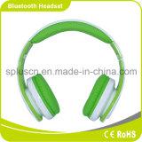 Cor azul que ostenta auriculares de Bluetooth com cartão e microfone do SD