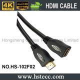 Mâle nickelé de 2.0V 1.4V à la femelle HDMI Kable