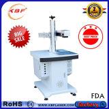 macchina da tavolino dell'indicatore del laser della fibra 20W per metallo/piatti d'acciaio/plastica