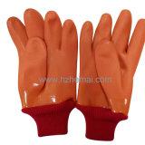Handschuh Hallo-Nämlich orange PVC tauchte Bahnsicherheits-Arbeitshandschuh ein