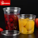 Lockable Lid를 가진 명확한 Fruit Salad Pet Plastic Cup