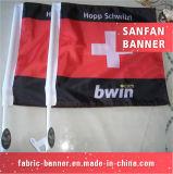 Il briscola all'ingrosso dello stendardo rotola in su la bandierina dell'automobile della bandiera dello schermo con il materiale della decorazione