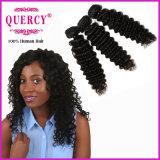 I capelli profondi indiani dell'onda del nuovo Virgin poco costoso di arrivo dei capelli di Quercy impacchettano i capelli umani indiani originali