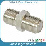 Connecteur d'adaptateur d'épissure de type F pour câble coaxial Rg59 RG6 (F-063)